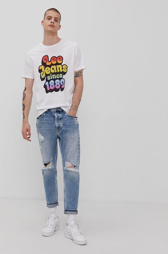 Lee - T-shirt PRIDE biały