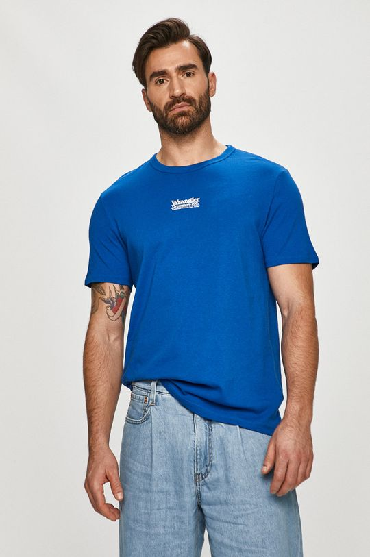 modrá Wrangler - Tričko Pánský