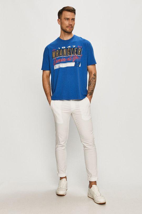 Wrangler - T-shirt niebieski