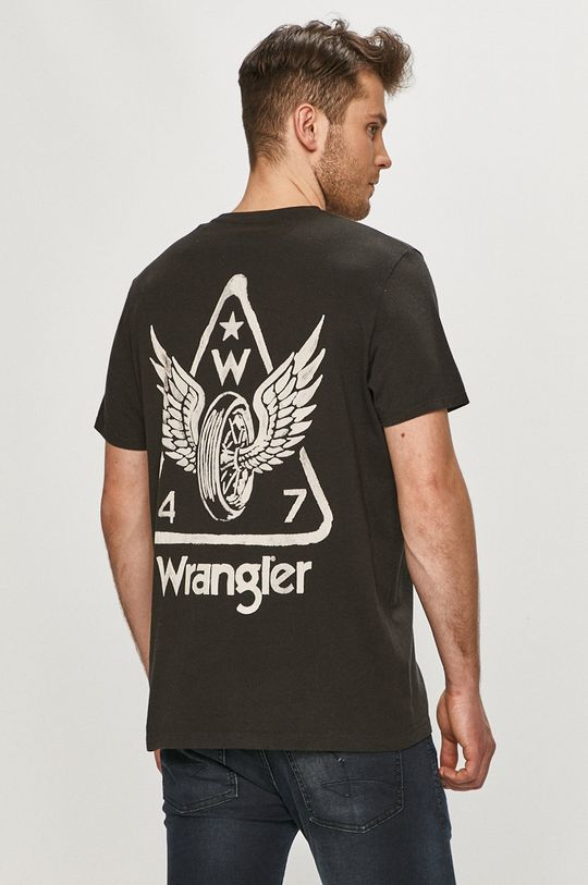 czarny Wrangler - T-shirt Męski