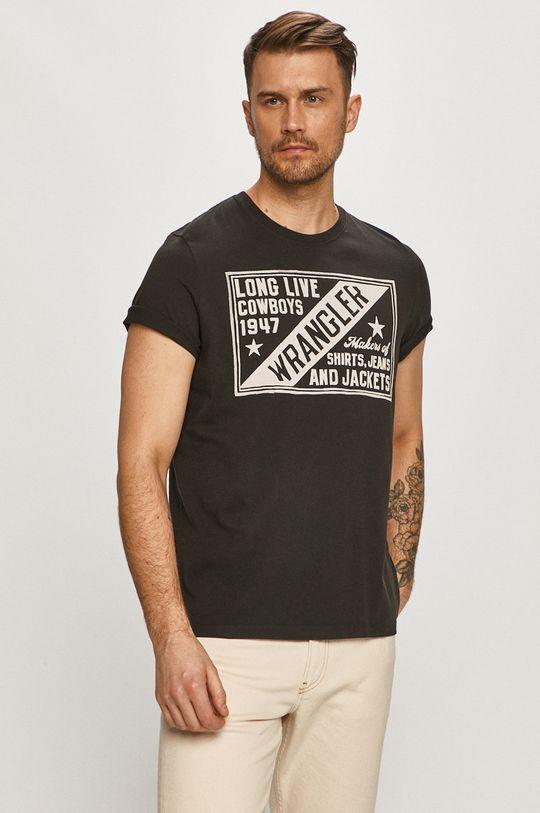 černá Wrangler - Tričko Pánský