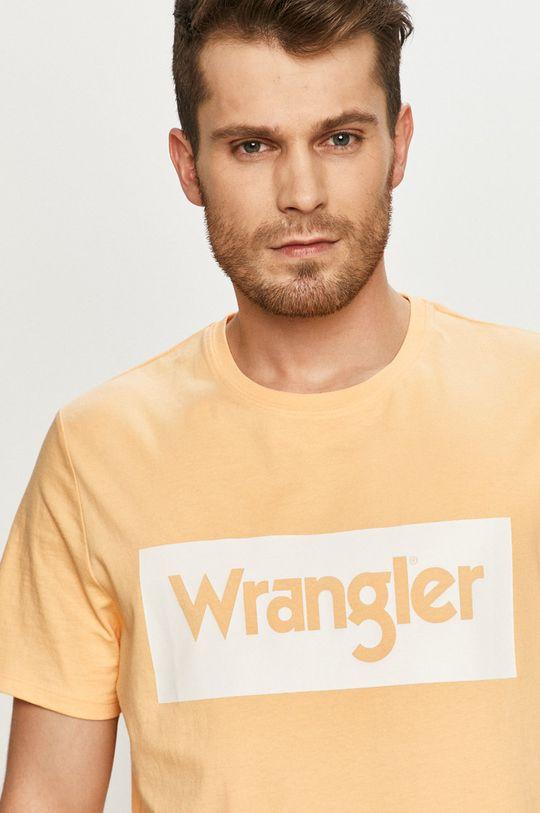 jasně oranžová Wrangler - Tričko Pánský