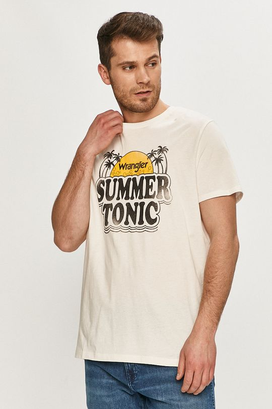 biały Wrangler - T-shirt