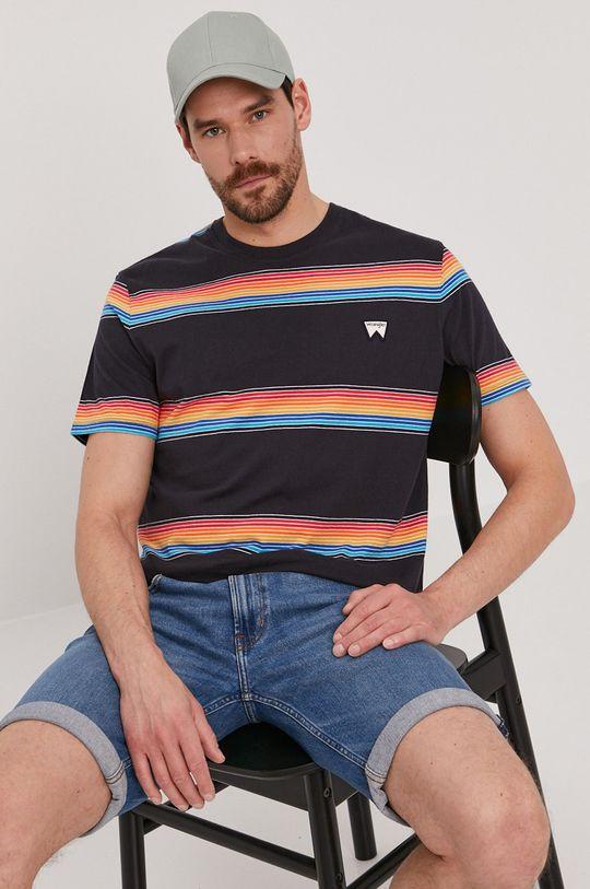 granatowy Wrangler - T-shirt Męski