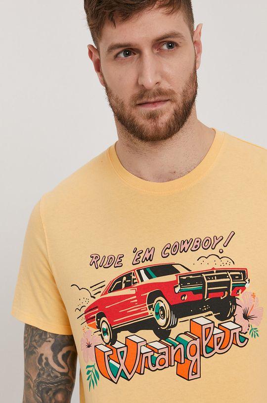 jasně oranžová Wrangler - Tričko