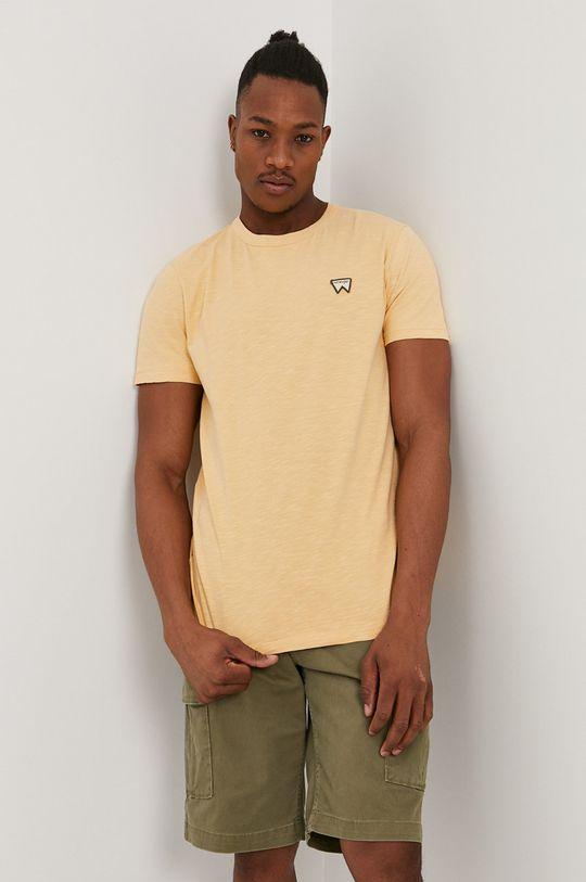 jasny pomarańczowy Wrangler - T-shirt Męski