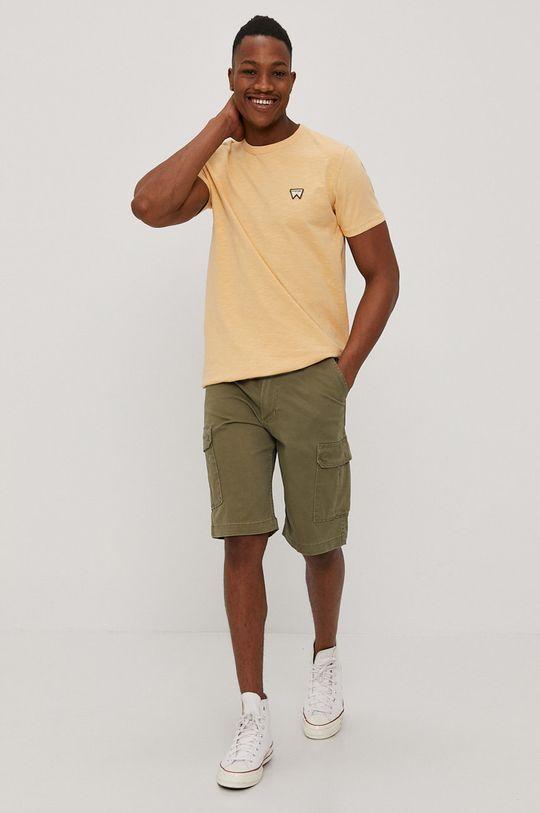 Wrangler - T-shirt jasny pomarańczowy