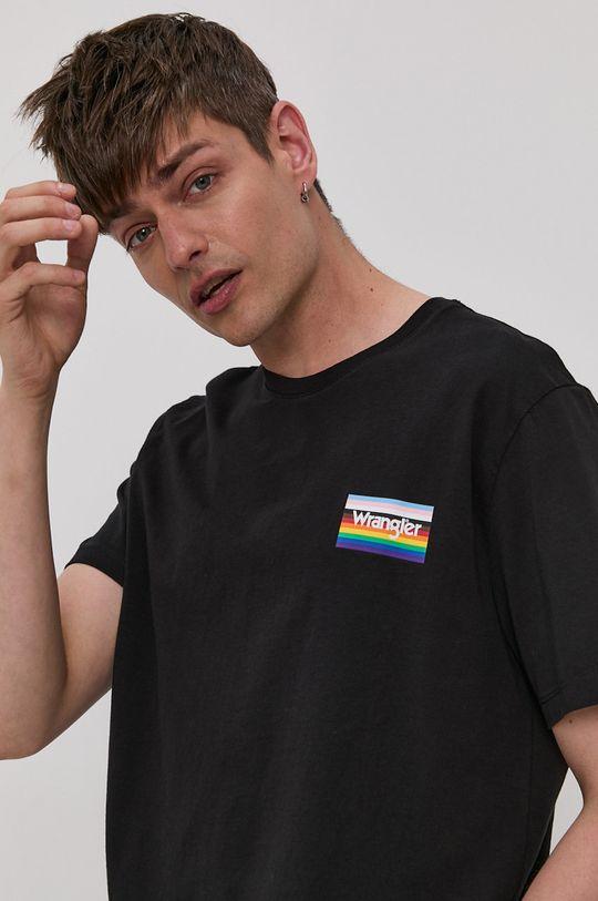 czarny Wrangler - T-shirt PRIDE