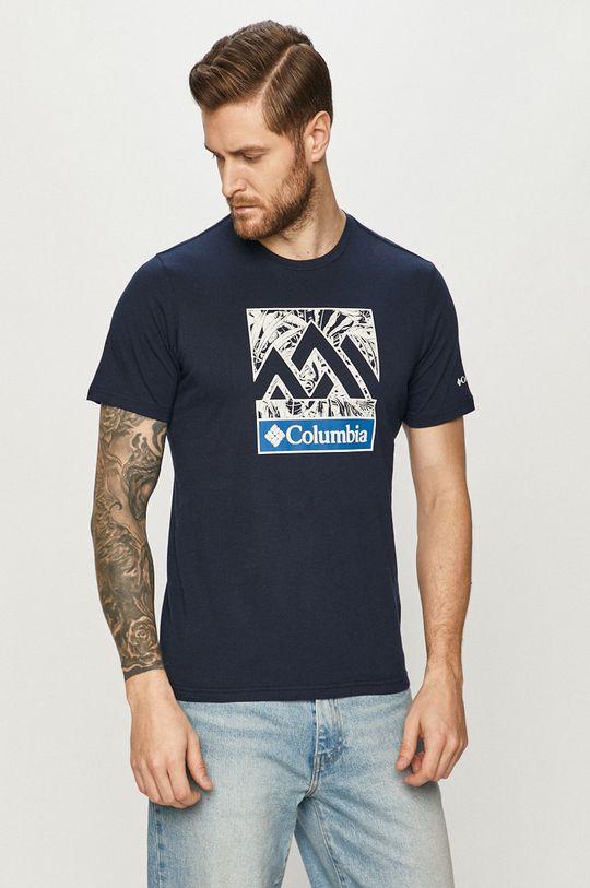granatowy Columbia - T-shirt Męski