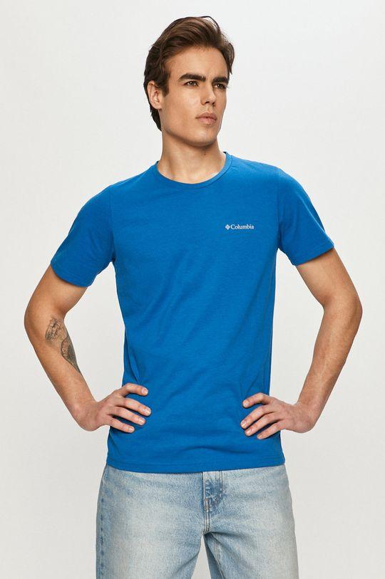 niebieski Columbia - T-shirt Męski