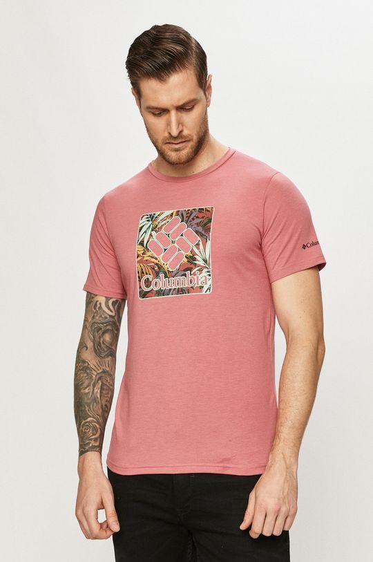 różowy Columbia - T-shirt Męski