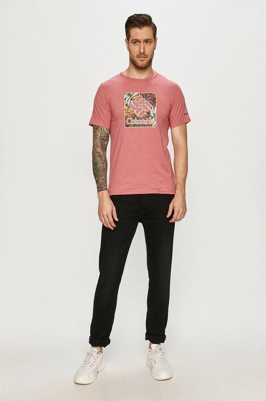 Columbia - T-shirt różowy