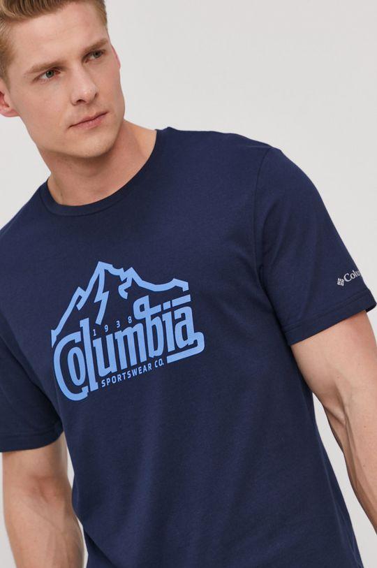 tmavomodrá Columbia - Tričko Pánsky