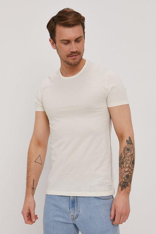kremowy Paul Smith - T-shirt Męski