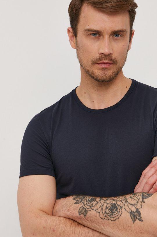 granatowy Paul Smith - T-shirt Męski