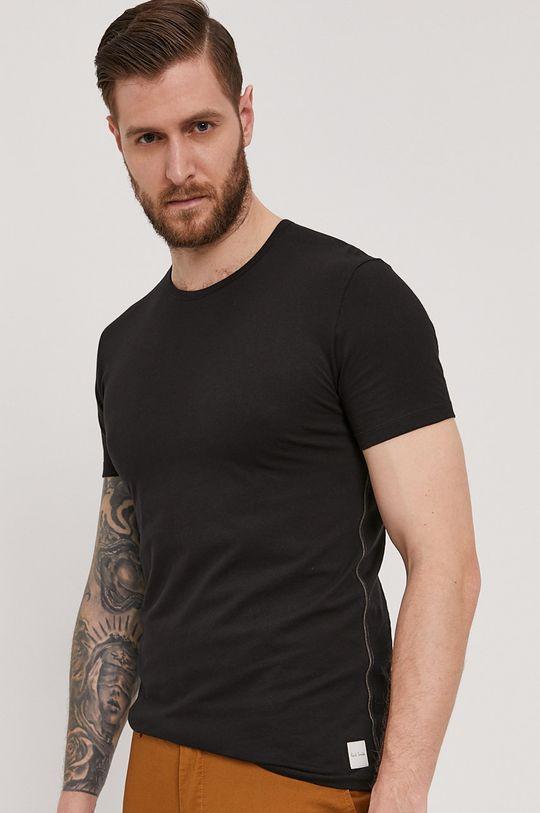 czarny Paul Smith - T-shirt Męski