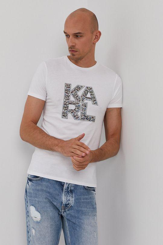 biela Karl Lagerfeld - Tričko Pánsky