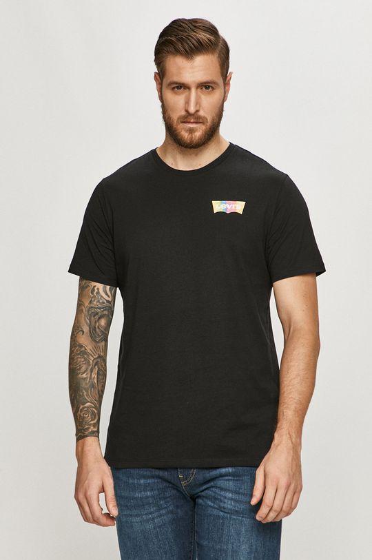 czarny Levi's - T-shirt Męski