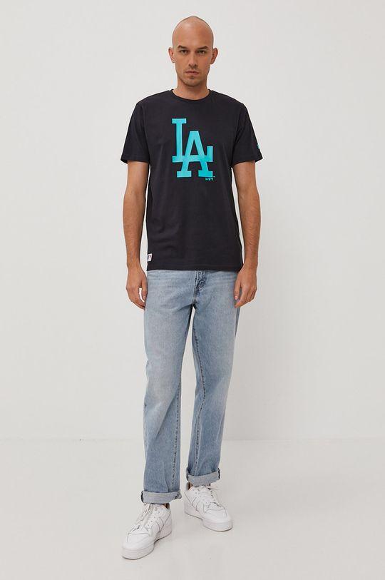 New Era - T-shirt granatowy