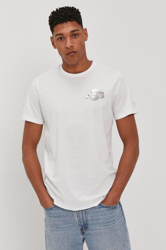 bílá New Era - Tričko Pánský