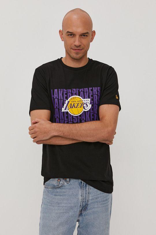 czarny New Era - T-shirt