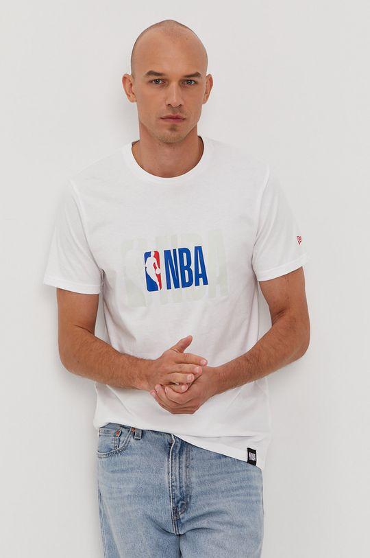 biały New Era - T-shirt Męski