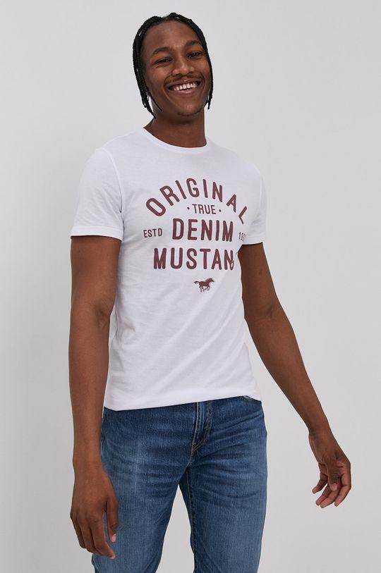 bílá Mustang - Tričko Pánský
