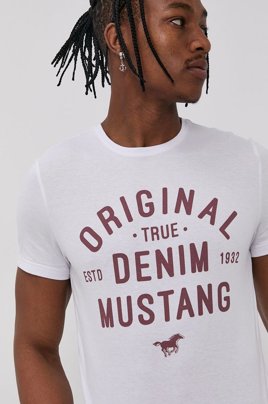 bílá Mustang - Tričko