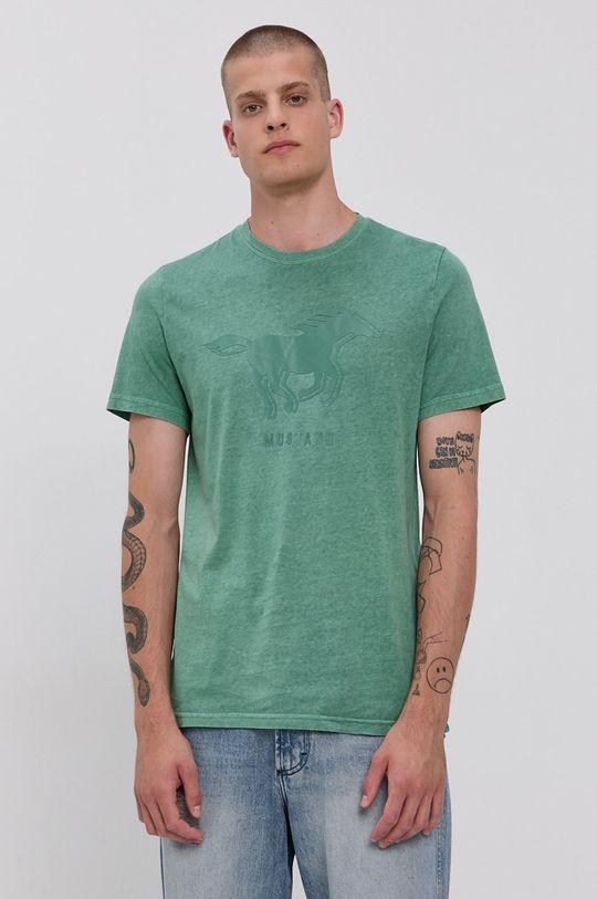 tyrkysová Mustang - Bavlněné tričko