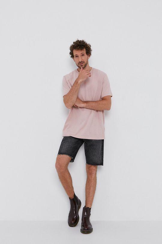AllSaints - T-shirt rózsaszín