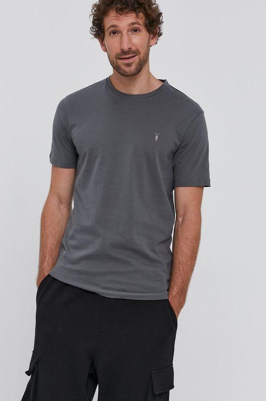 grafitowy AllSaints - T-shirt