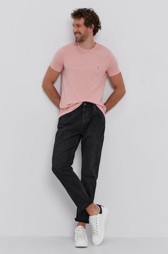 pasztell rózsaszín AllSaints - T-shirt Férfi