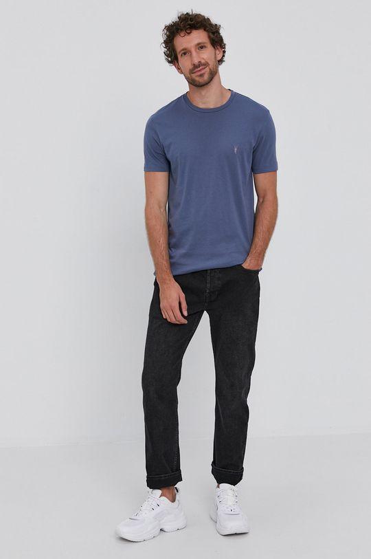 ocelová modrá AllSaints - Tričko Pánský