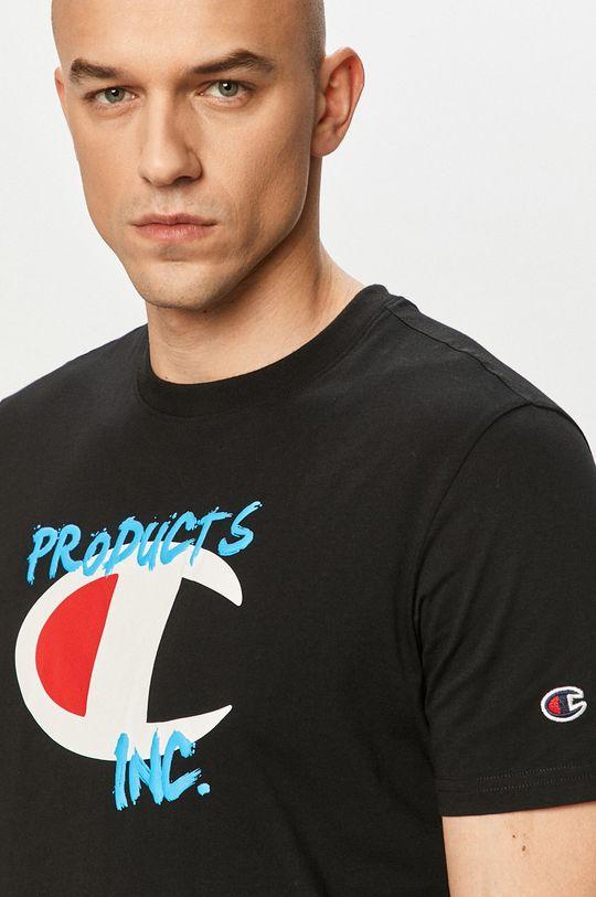 czarny Champion - T-shirt Męski