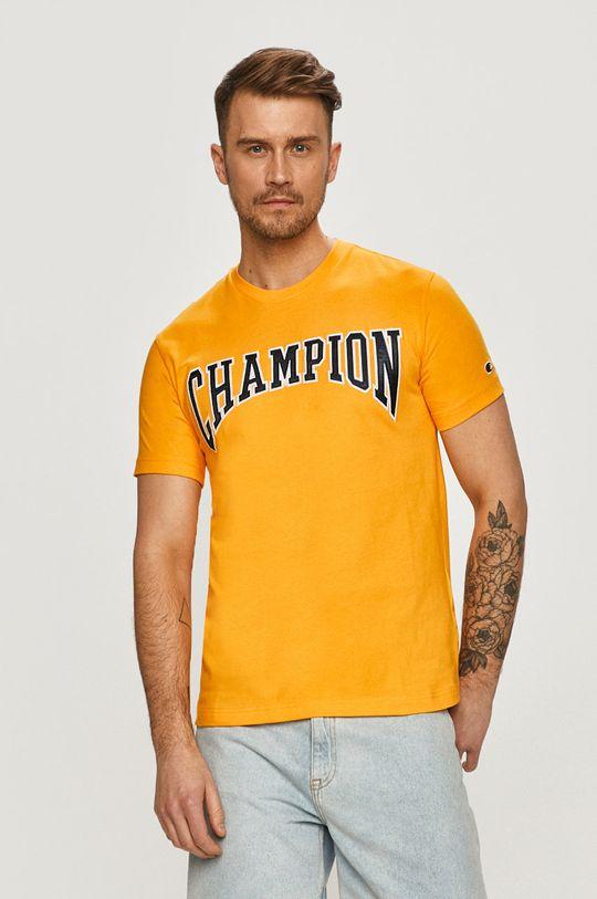 oranžová Champion - Tričko Pánský