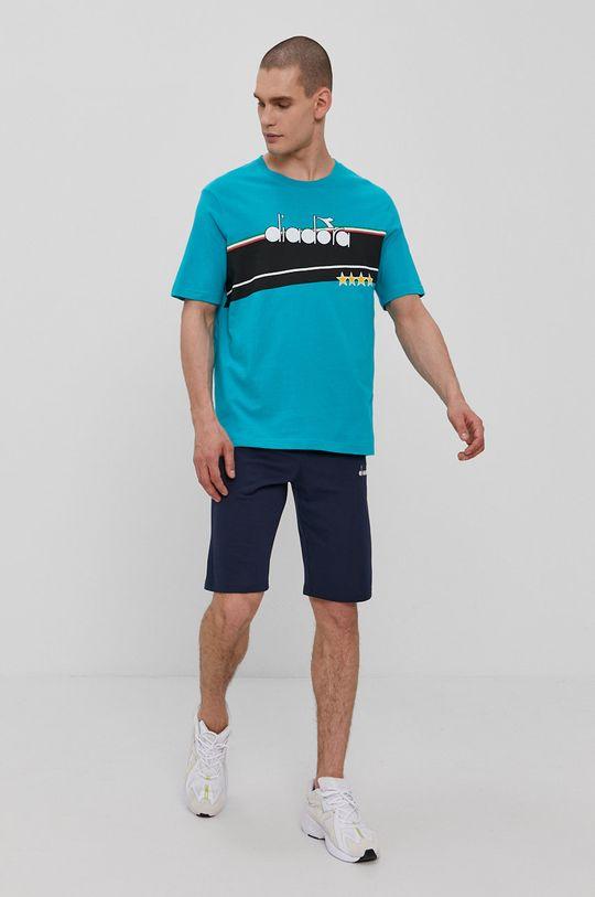 Diadora - T-shirt turkusowy