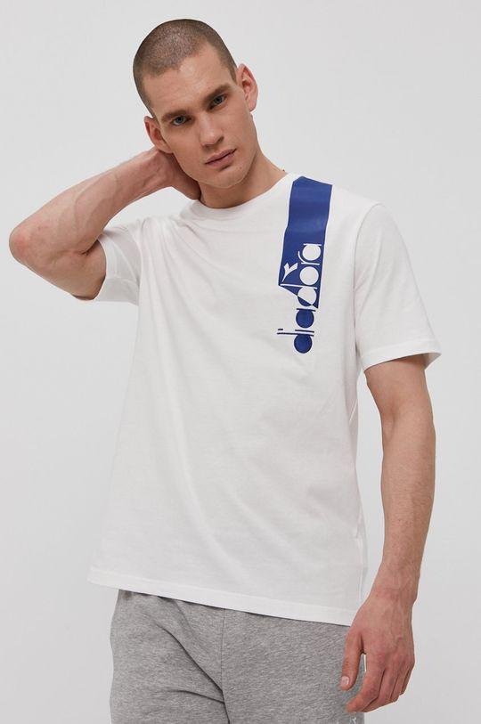 biały Diadora - T-shirt Męski
