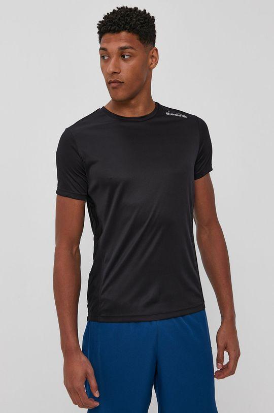 czarny Diadora - T-shirt Męski