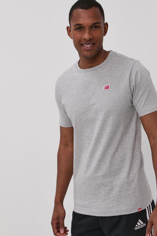 szary New Balance - T-shirt Męski