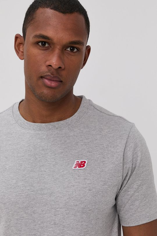 szary New Balance - T-shirt