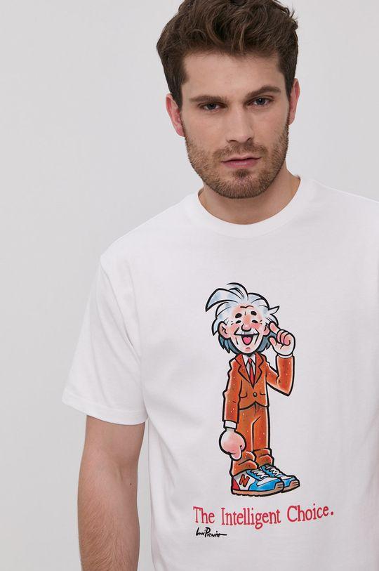 bílá New Balance - Tričko Pánský