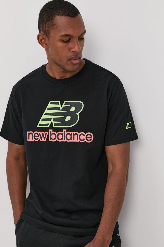 czarny New Balance - T-shirt Męski
