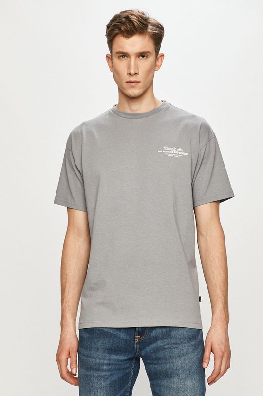 szary Dr. Denim - T-shirt Męski