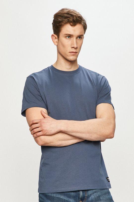 oceľová modrá Dr. Denim - Tričko Pánsky