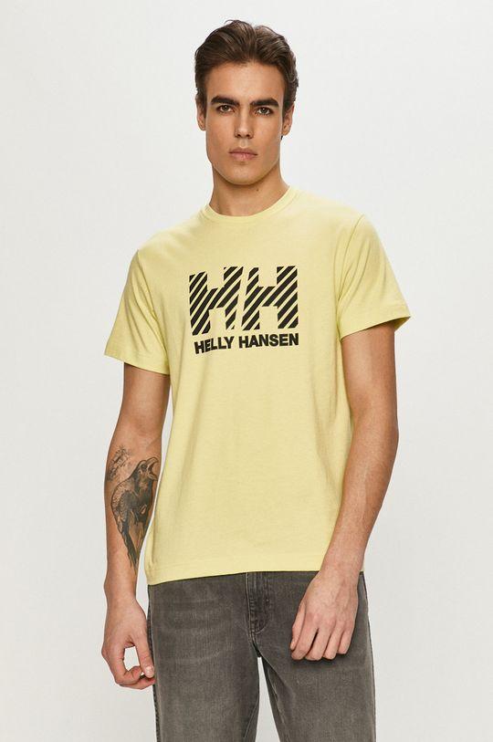 żółto - zielony Helly Hansen - T-shirt Męski