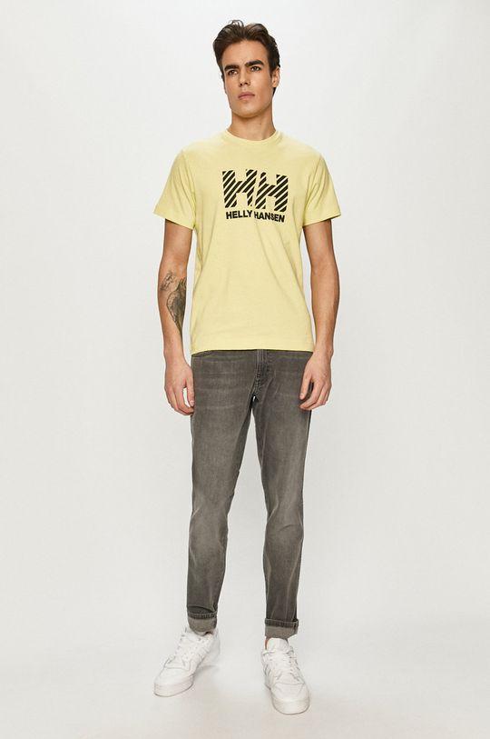 Helly Hansen - T-shirt żółto - zielony