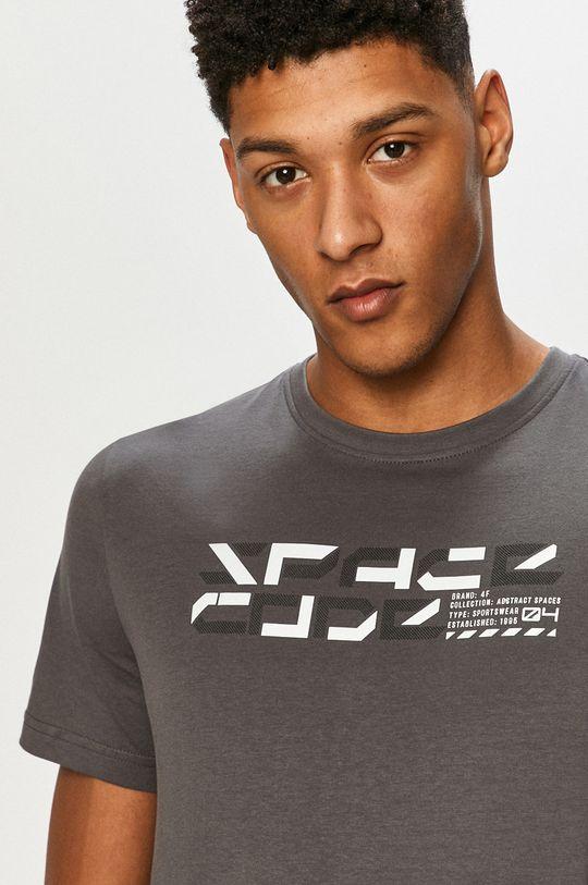 grafitowy 4F - T-shirt Męski