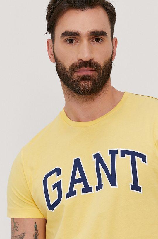 žltá Gant - Tričko Pánsky