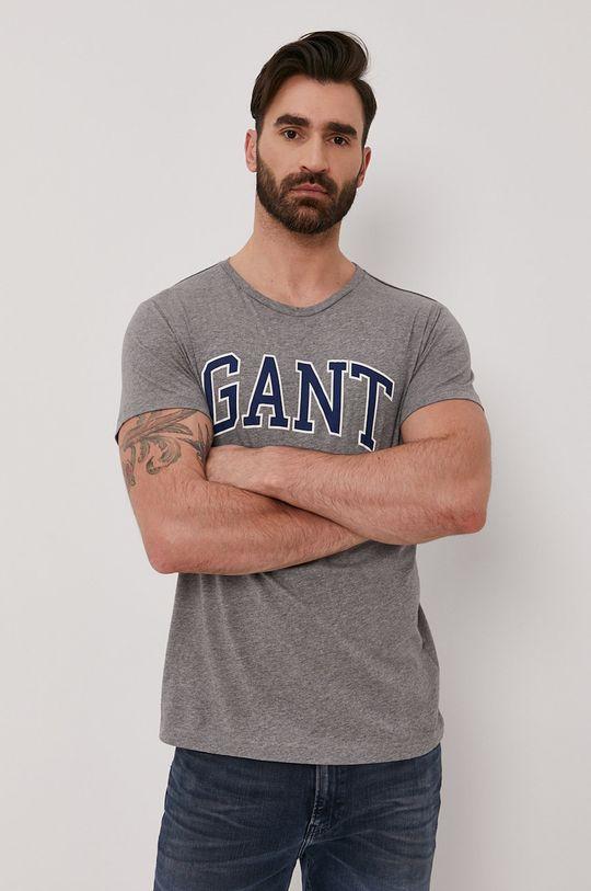 šedá Gant - Tričko Pánský