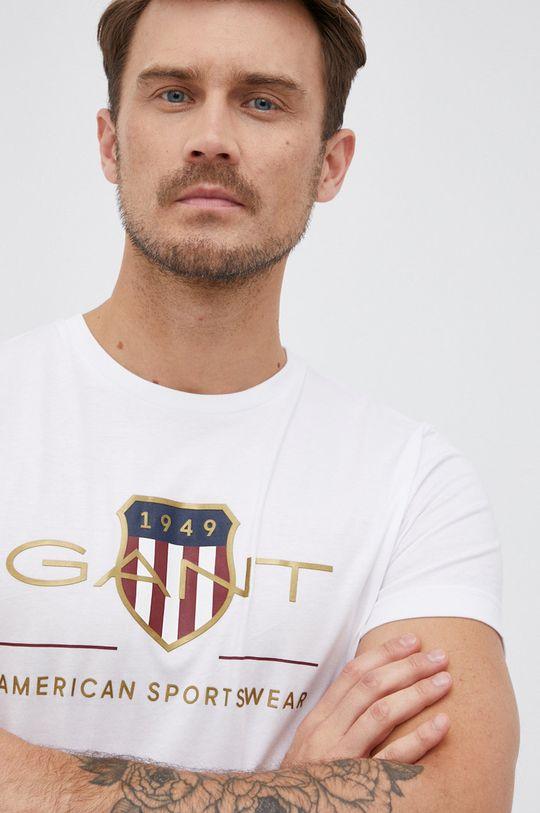 biały Gant - T-shirt